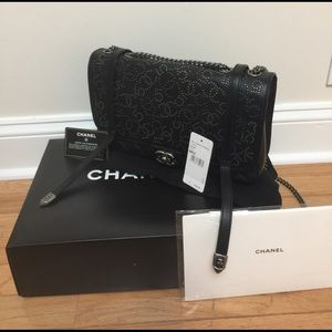 CHANEL Dallas Black Lambskin Studded Lambskin bag