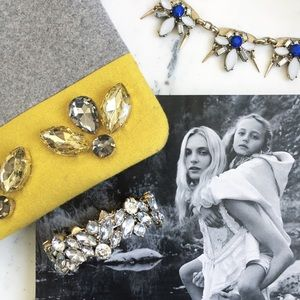 "Erica Rose Jewelry - ""Kennedy"" Bracelet || Clear Crystal Statement"