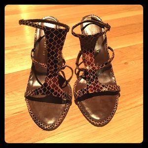 Colin Stuart Shoes - WORN ONCE- Open toe heels
