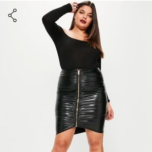 ASOS Curve Dresses & Skirts - Ruched zip front skirt