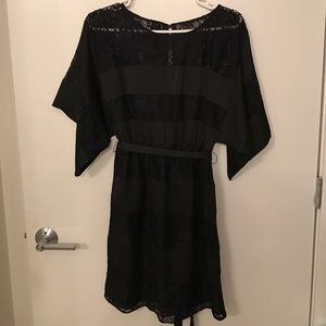 Black lace detail dress!