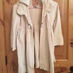 Billabong Jackets & Blazers - Ivory 3/4 length jacket