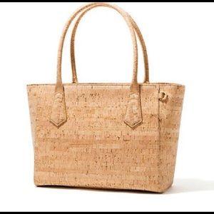 "Dagne Dover Handbags - Dagne Dover 13"" tote-cork/gold-perfect for summer!"