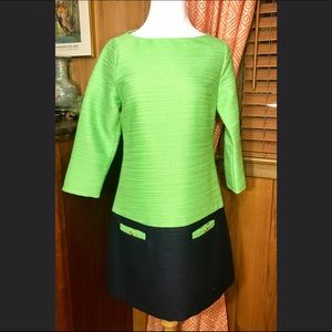 Julie Brown Dresses & Skirts - Julie Brown Green and Navy Dress