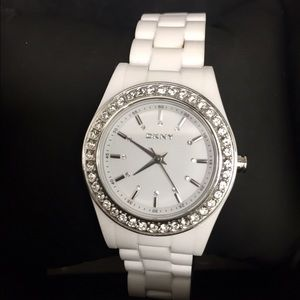 DKNY Accessories - DKNY Women's White Dial Resin Watch