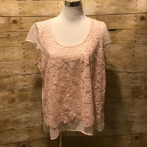 Maurices Tops - Pink lace top. NWT