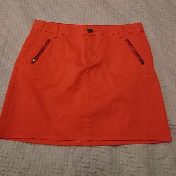 85f1654663 GAP Dresses & Skirts - GAP orange denim mini skirt