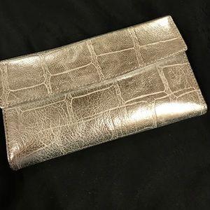 Lodis Handbags - Lodis Silver Leather Wallet