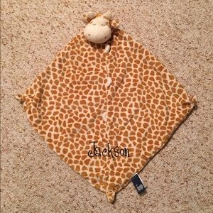 """Angel Dear Other - Giraffe Print """"Lovey"""" Blanket"""