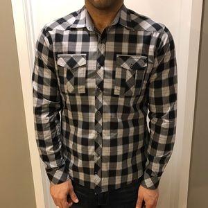 7 Diamonds Other - Men's 7 Diamond charcoal plaid button up shirt.