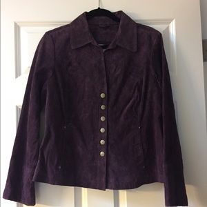 Ami Jackets & Blazers - Ami Purple Leather Jacket