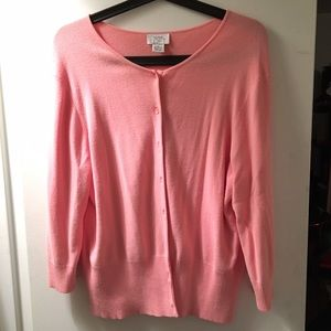 ANN TAYLOR LOFT pink cardigan size XL