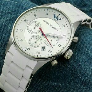 emporio Armani  Other - NWT  Emporio Armani Chronograph white Sport watch