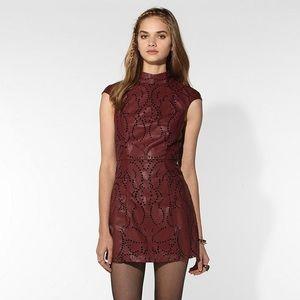 Shakuhachi Dresses & Skirts - Shakuhachi Red Faux Leather Mini Dress Small