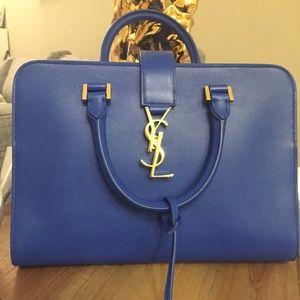 Yves Saint Laurent Handbags - NEW Calfskin Leather Small Monogram Cabas Bag