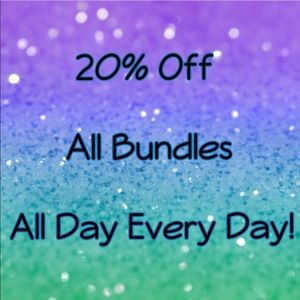 💕20% Off All Bundled💕