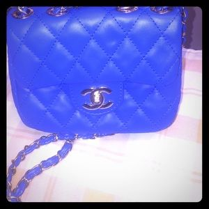 CHANEL Handbags - NWT High quality Chanel Electric Blue Cross-Body