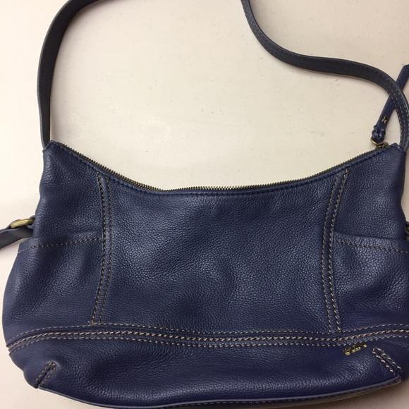 The Sak Bags Navy Blue Leather Shoulder Bag Poshmark