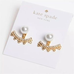 NWT Kate Spade Chantilly Charm Ear Jackets Gold