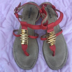 White Mountaineering Shoes - Cute red sandals