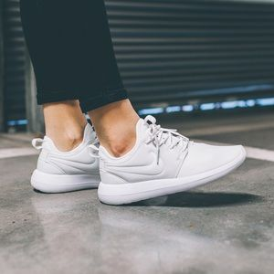 Nike Shoes - Nike White Leather Roshe Two Sneakers