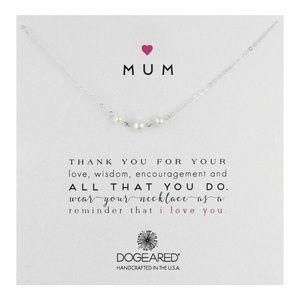 Dogeared Jewelry - Dogeared Mum Silver Necklace