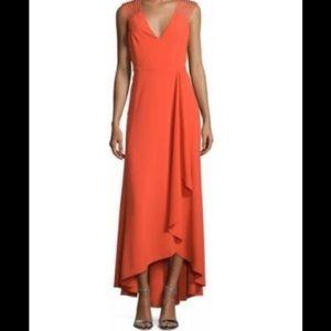 Halston Heritage Dresses & Skirts - Halston Heritage High Low Strappy Dress, Orange