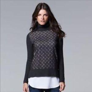 🎉HP🎉 NWOT Grey Vera Wang Sweater