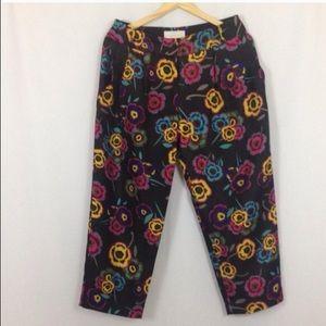 Anthropologie Corey Lynn Calter Floral Pants Sz 4
