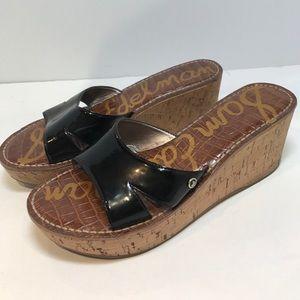 Sam Edelman Shoes - Sam Edelman Patent Leather Cork Wedge