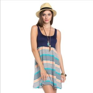 The Blossom Apparel Dresses & Skirts - 🆕🌈Solid Stripe Contrast Dress🌈🆕