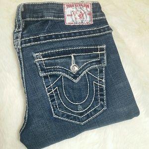 True Religion Denim - True Religion Disco Joey Big T Flare Jeans Size 28