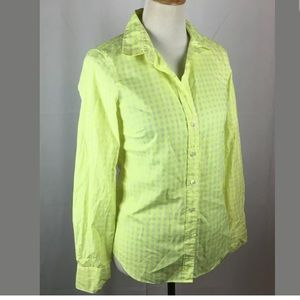 """J. Crew Tops - J. Crew """" the perfect shirt """" neon button down"""