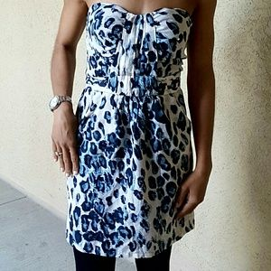 Charlie Jade Dresses & Skirts - Charlie Jade Sleeveless Blue & Tan Dress