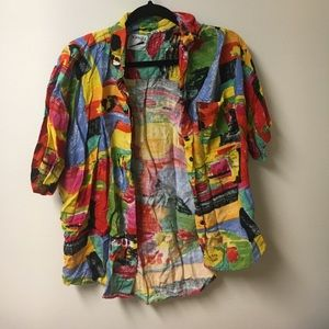 Tops - Multicolored Button Up