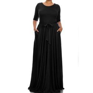 Dresses & Skirts - 30% off Bundles! Black Long Maxi