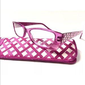 🦋Vera Bradley Pink Reading Glasses New