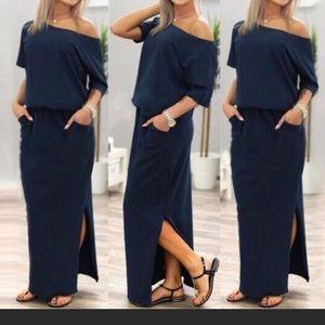 Dresses & Skirts - Navy blue maxi dress