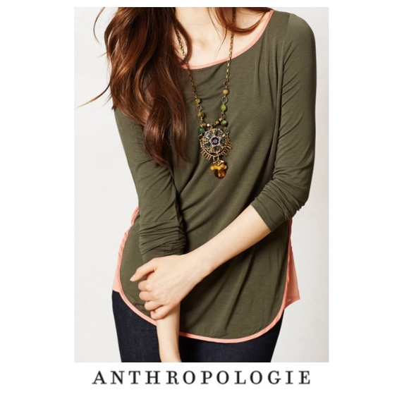 4831eff6f441f Anthropologie Tops - Anthropologie Bordeaux Forest Green Wren Top
