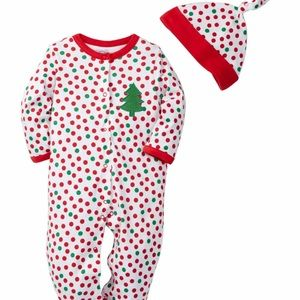 Offspring Other - 2pc holiday footie with hat