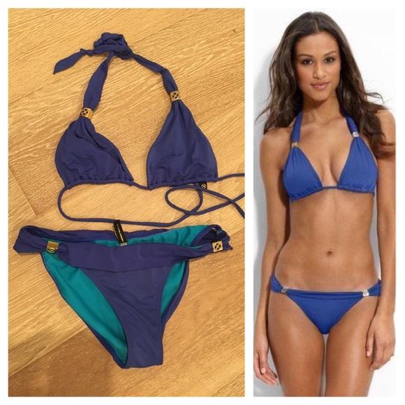 d4693d7ddb7d1 ViX Bia Logo Adjustable Royal Blue Bikini S Gold. M_58dcb6a54e95a3f2af021c64