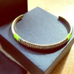 J. Crew Jewelry - J.Crew Crystal Pave Cuff Bracelet with Neon Thread