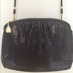 Vintage 1980s Black Whiting & Davis Mesh Bag