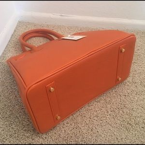 3110ca42c7 KARA Imports Bags | Small Orange Leather Birkin Style Bag | Poshmark
