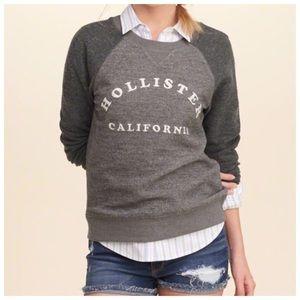 Hollister Reverse Terry Graphic Crew Sweatshirt