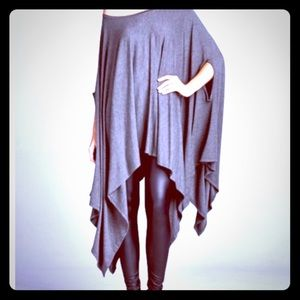 Boho Loco Fashion Boutique Tops - Asymmetrical Cape Tunic NWT