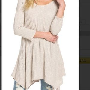 Boho Loco Fashion Boutique Tops - Shark Bite Sweater Tunic NWT