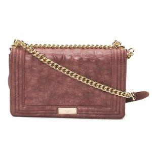 BCBG Handbags - ✨NWT✨ BCBG Embossed Metallic Wine Shoulder Bag