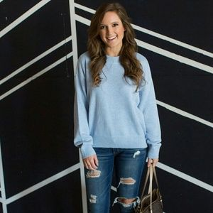 Baby Blue Knit Sweater