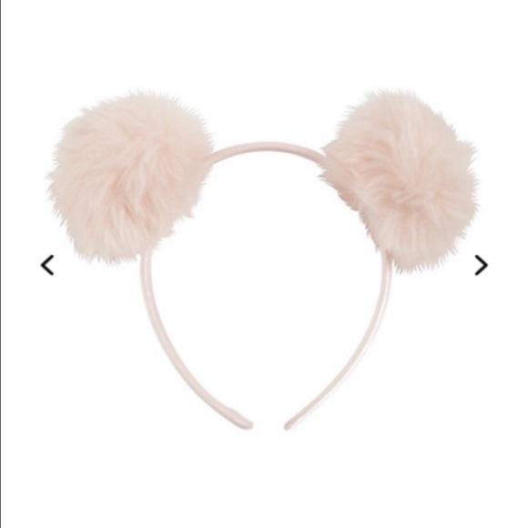 Accessories - pink puff ball headband 0eb96200b9b
